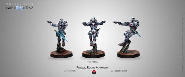 Perseus, Rogue Myrmidon (Two Pistols)
