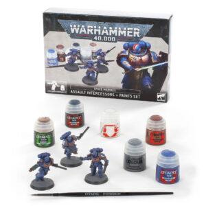 Space Marines Assault Intercessros and paint Set
